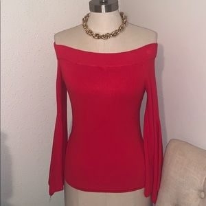 Women's New York and Co red sweater size XSmall